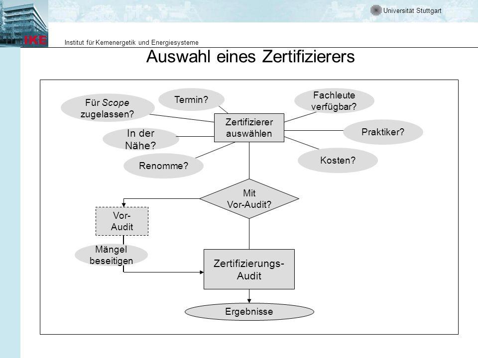 Universität Stuttgart Institut für Kernenergetik und Energiesysteme Zertifizierer auswählen In der Nähe? Für Scope zugelassen? Fachleute verfügbar? Pr