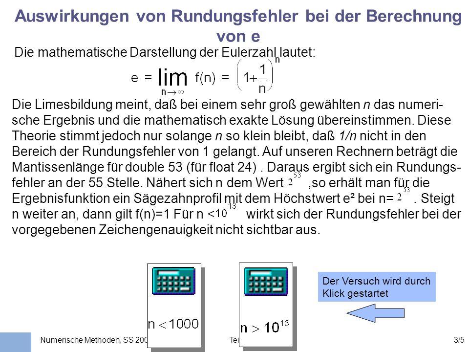 Universität Stuttgart Wissensverarbeitung und Numerik I nstitut für K ernenergetik und E nergiesysteme Numerische Methoden, SS 2003 Teil II: Kp. 33/5