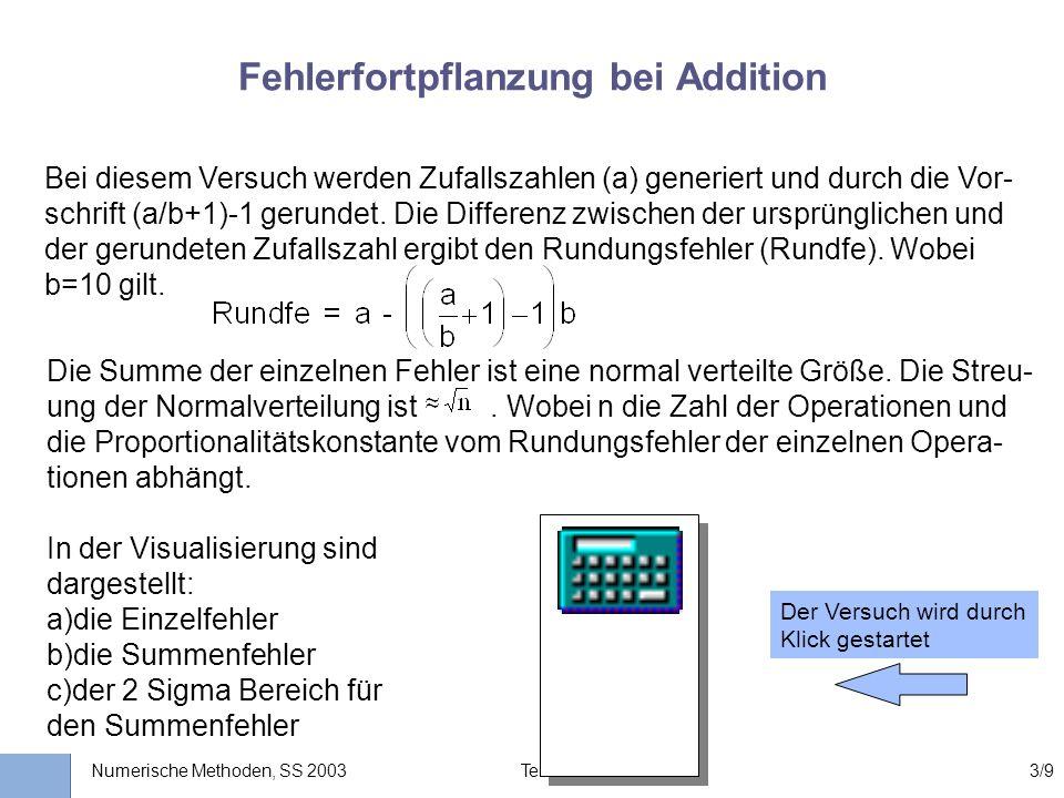 Universität Stuttgart Wissensverarbeitung und Numerik I nstitut für K ernenergetik und E nergiesysteme Numerische Methoden, SS 2003 Teil II: Kp. 33/9