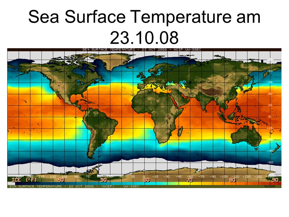 Sea Surface Temperature am 23.10.08