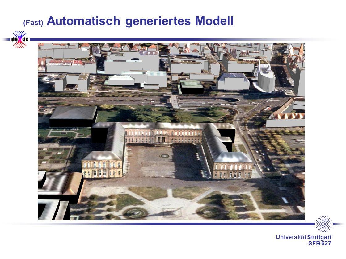 Universität Stuttgart SFB 627 (Fast) Automatisch generiertes Modell