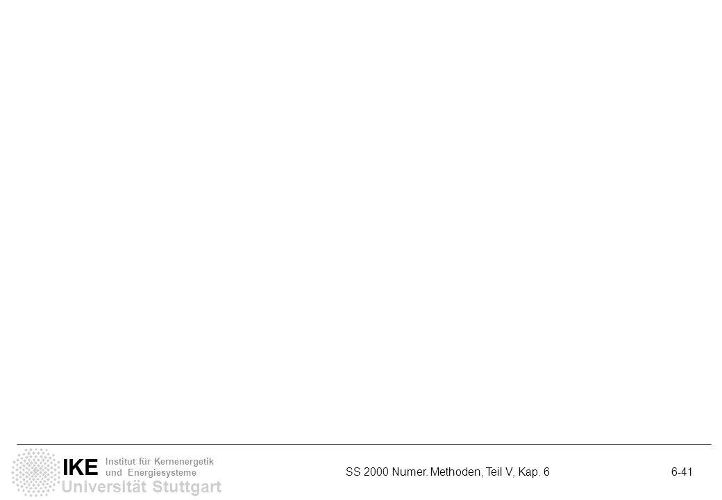 Universität Stuttgart IKE Institut für Kernenergetik und Energiesysteme SS 2000 Numer. Methoden, Teil V, Kap. 6 6-41