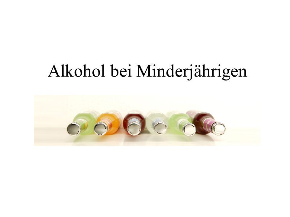 Alkohol bei Minderjährigen