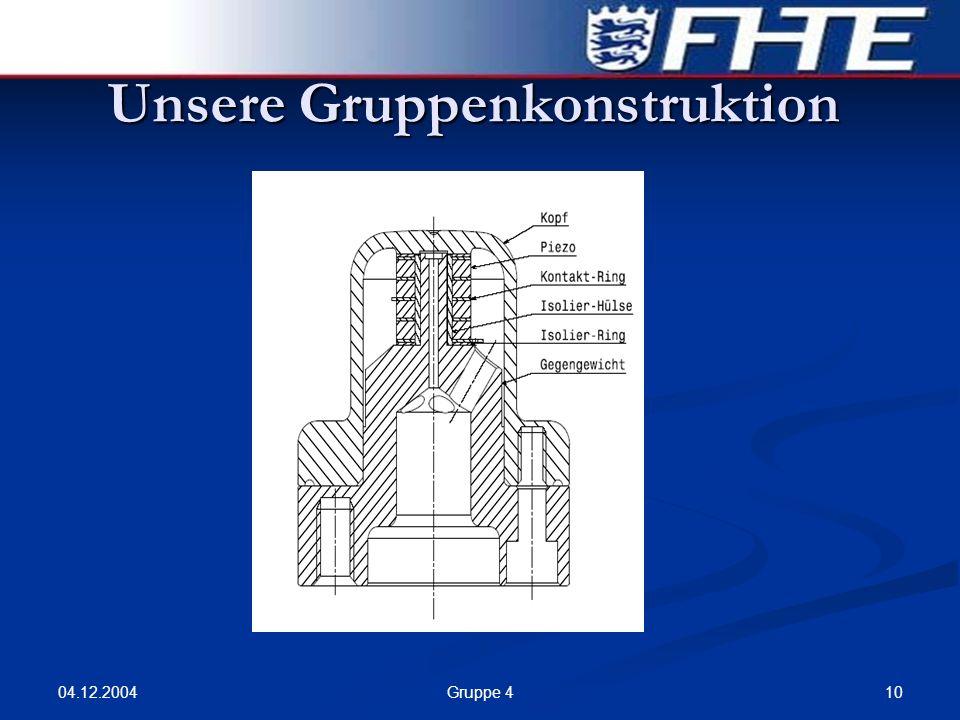 04.12.2004 10Gruppe 4 Unsere Gruppenkonstruktion