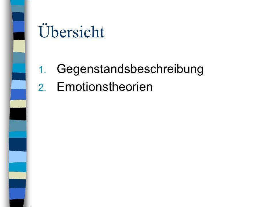 1.Gegenstandsbeschreibung Emotion und verwandte Begriffe: Stimmung, Gefühlszustand - Stimmungen o.