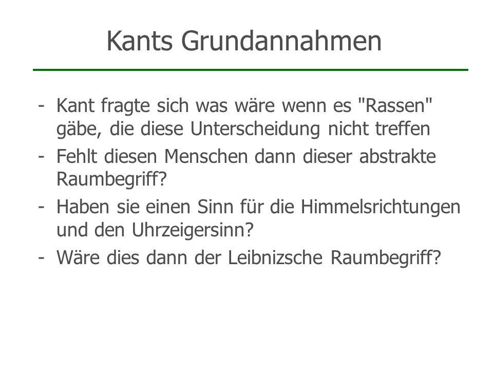 -Kant fragte sich was wäre wenn es