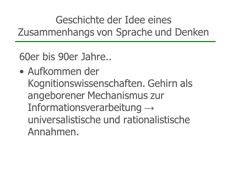 Ethnolinguistische Kritik Zusammenfassung: 1.Relativität auch im Gebrauch.