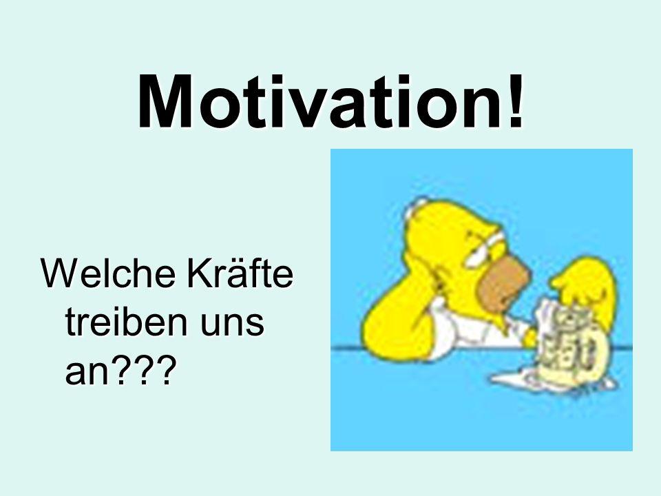 Motivation! Welche Kräfte treiben uns an???