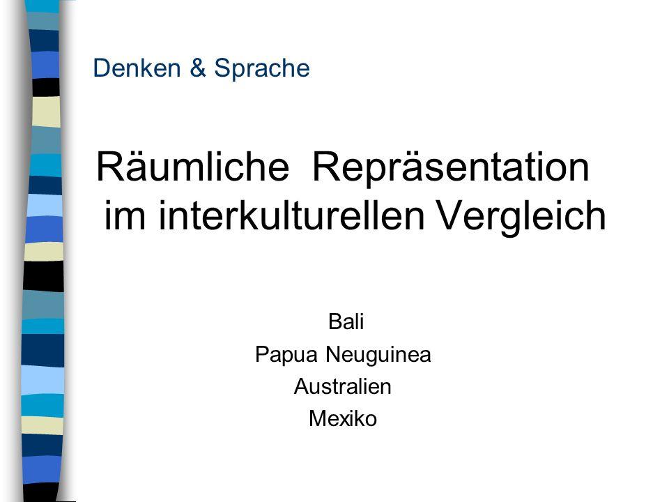 Denken & Sprache Räumliche Repräsentation im interkulturellen Vergleich Bali Papua Neuguinea Australien Mexiko