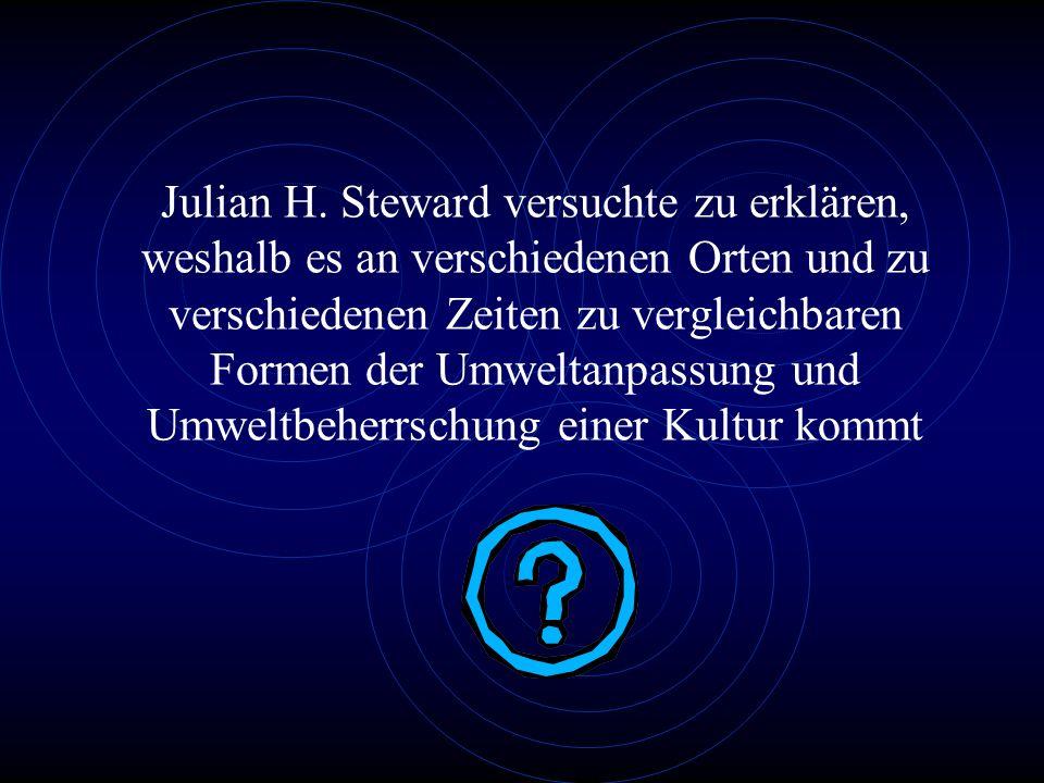 2. Julian H. Stewards Cultural Ecology (1955)