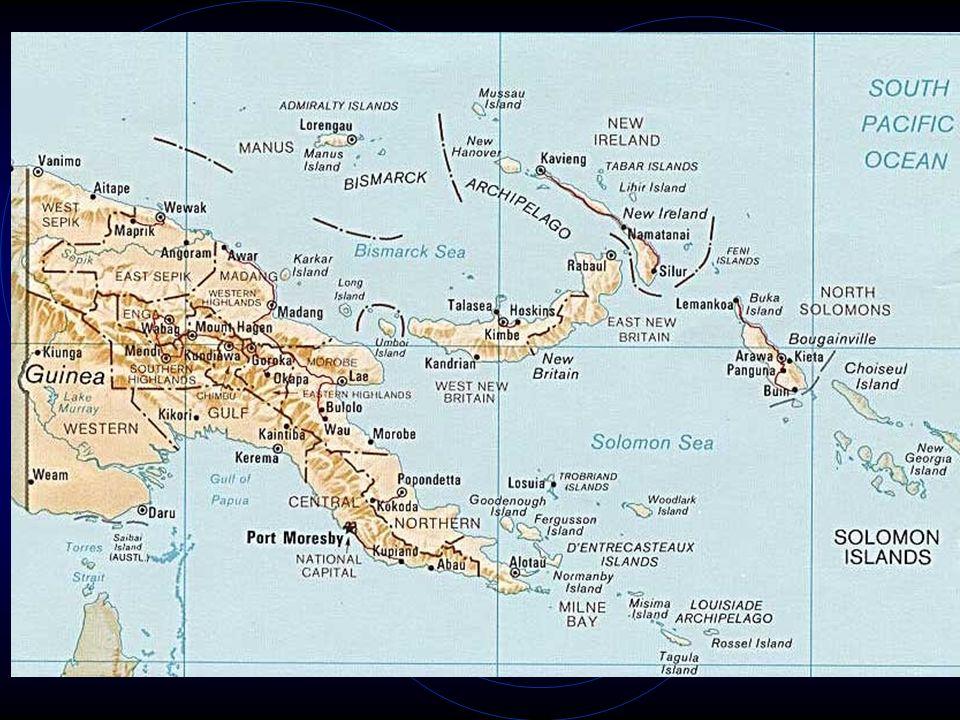 Tsembaga: Gruppe von Feldbauern und Schweinehaltern in Papua-Neuguinea (Madang-Region). Es kommt regelmäßig zu kriegerischen Auseinandersetzungen mit