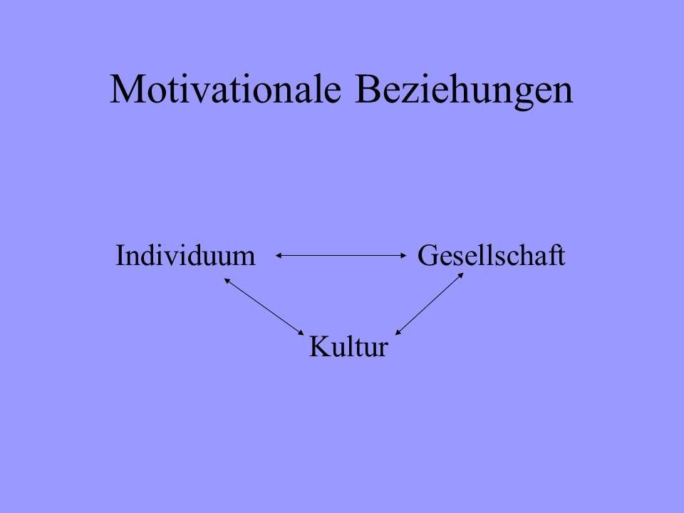 Motivationale Beziehungen Individuum Kultur Gesellschaft
