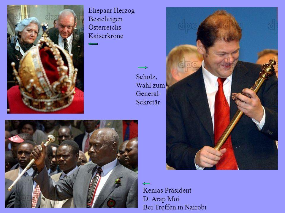 Ehepaar Herzog Besichtigen Österreichs Kaiserkrone Kenias Präsident D.