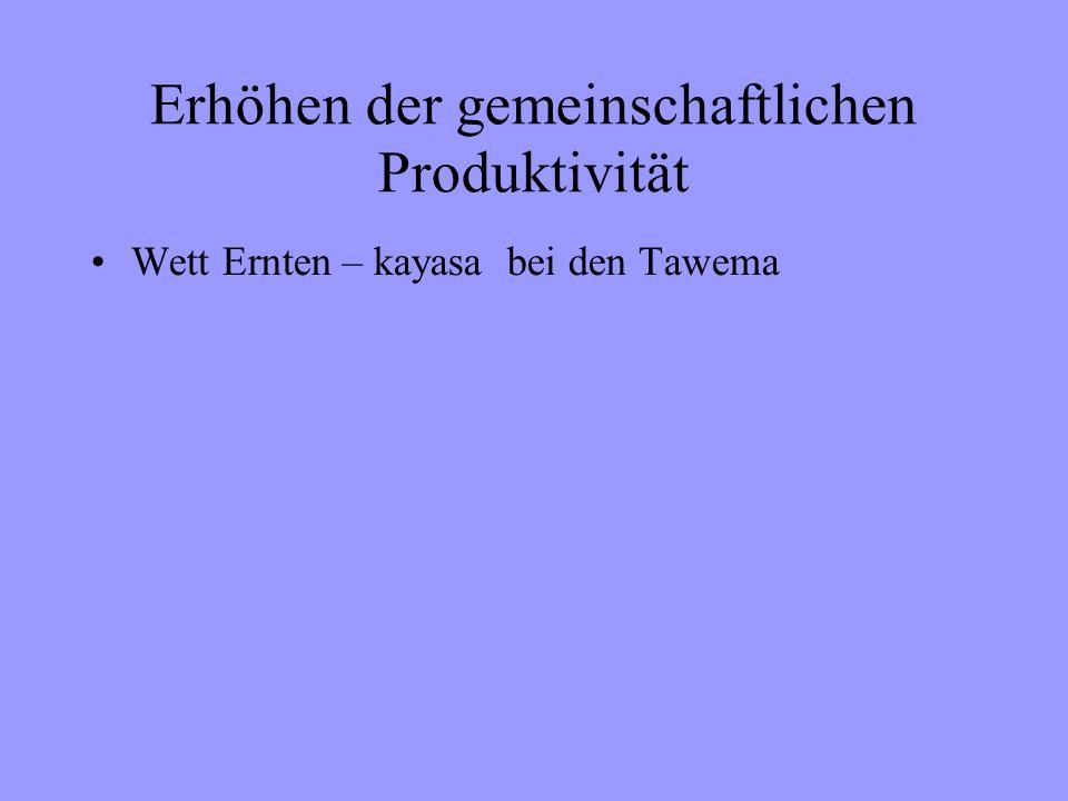 Erhöhen der gemeinschaftlichen Produktivität Wett Ernten – kayasa bei den Tawema