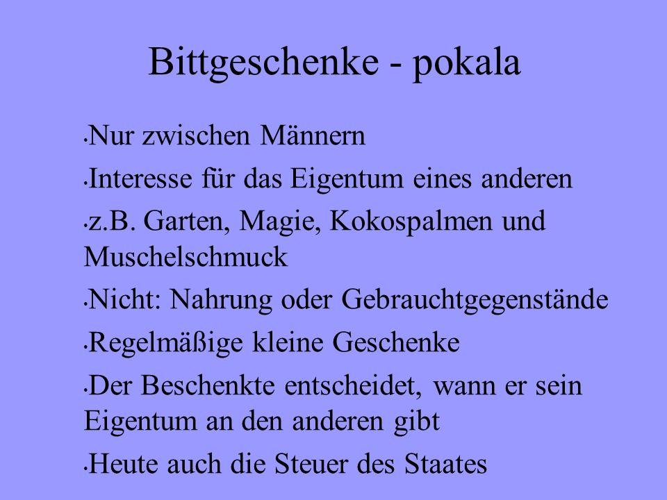 Bittgeschenke - pokala Nur zwischen Männern Interesse für das Eigentum eines anderen z.B.