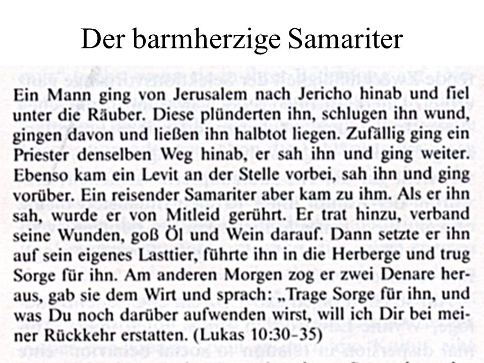 Der barmherzige Samariter