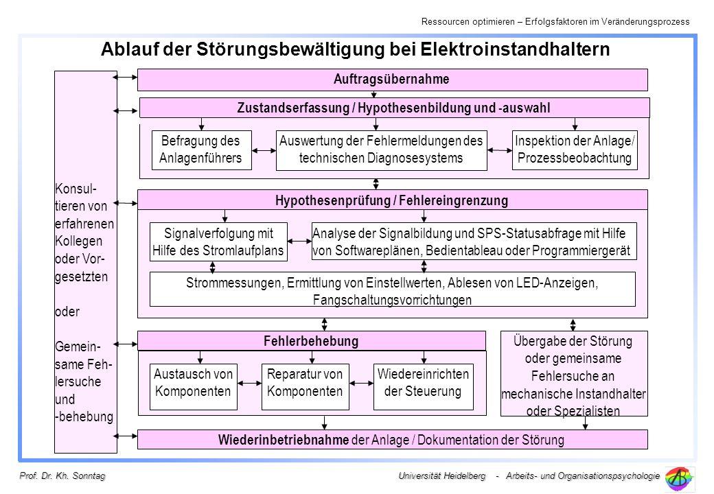 Ressourcen optimieren – Erfolgsfaktoren im Veränderungsprozess Universität Heidelberg - Arbeits- und Organisationspsychologie Prof. Dr. Kh. Sonntag Au