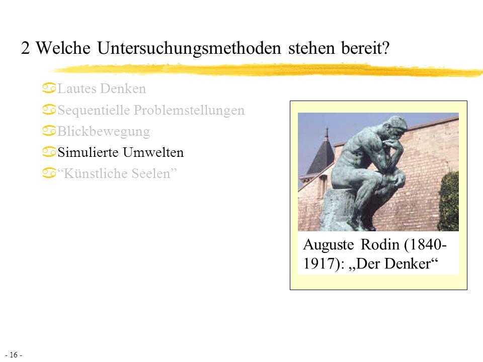 - 17 - LOHHAUSEN-Studie (Dörner et al., 1983) Simulationssystem: aca.