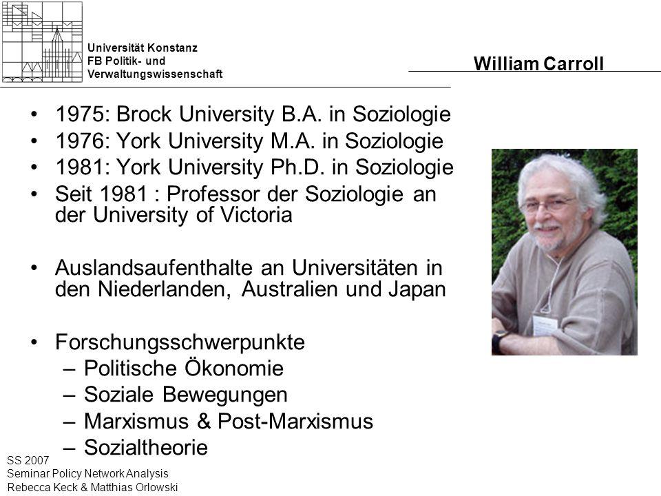 Universität Konstanz FB Politik- und Verwaltungswissenschaft SS 2007 Seminar Policy Network Analysis Rebecca Keck & Matthias Orlowski Directors in the Corporate- Policy Network