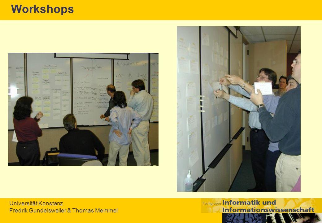 Universität Konstanz Fredrik Gundelsweiler & Thomas Memmel Workshops