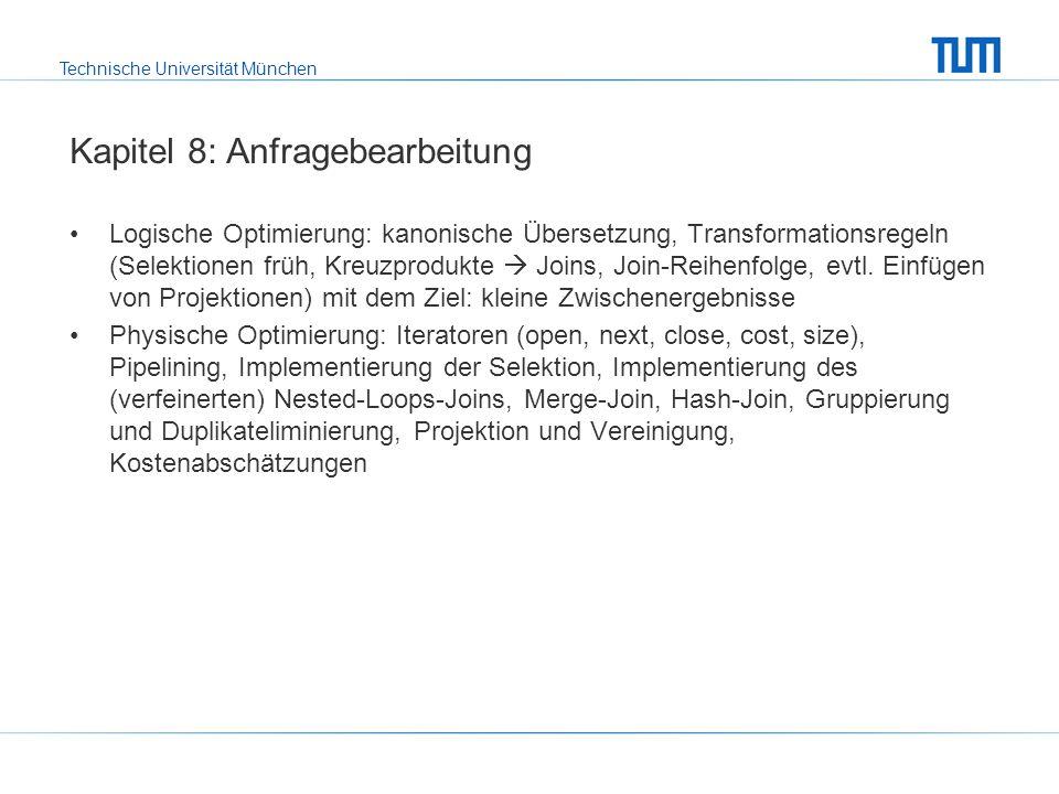 Technische Universität München Was ist Klausur-relevant.