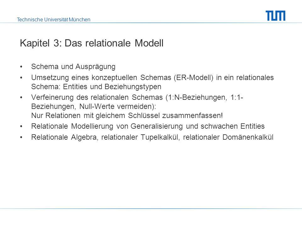 Technische Universität München Kapitel 4: Relationale Anfragesprachen SQL.