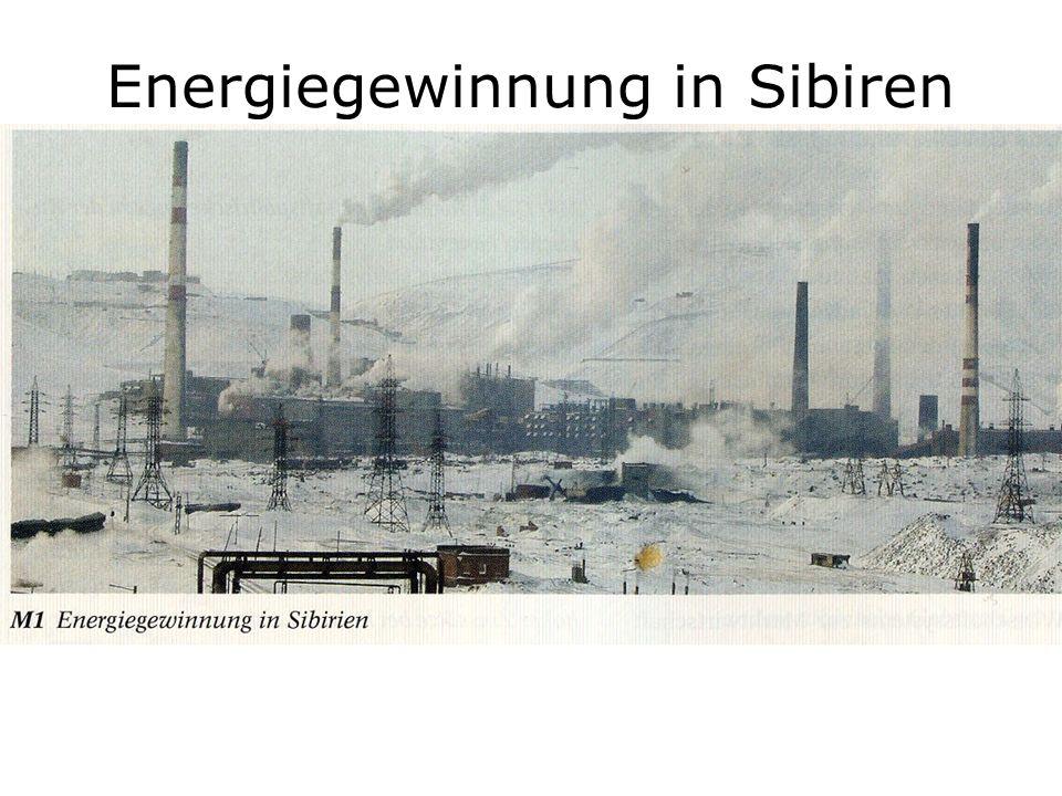 Energiegewinnung in Sibiren