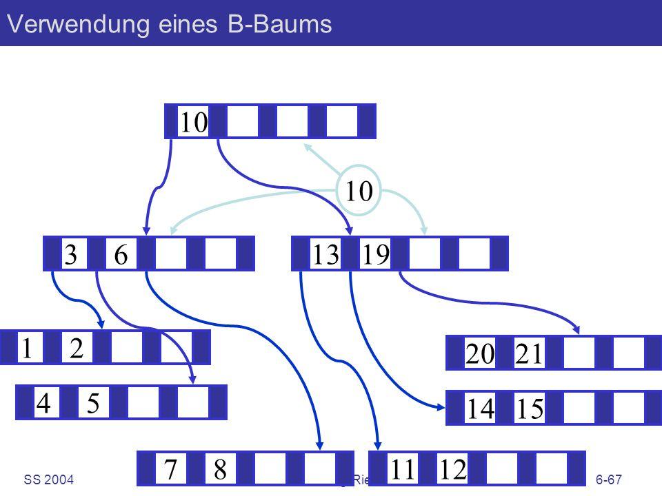 SS 2004B. König-Ries: KuD6-67 Verwendung eines B-Baums 12 1415 1319 781112 2021 45 36 10