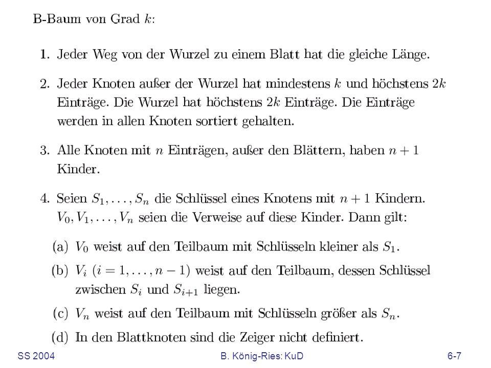 SS 2004B.König-Ries: KuD6-58 Sukzessiver Aufbau eines B-Baums vom Grad k=2 12 1415 .