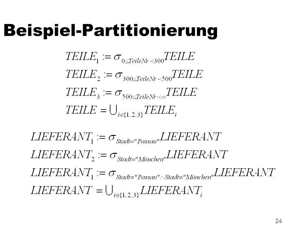 24 Beispiel-Partitionierung