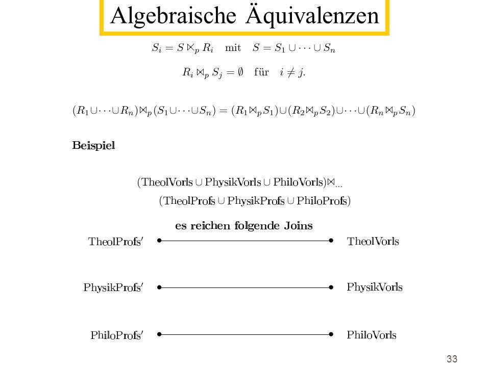 33 Algebraische Äquivalenzen