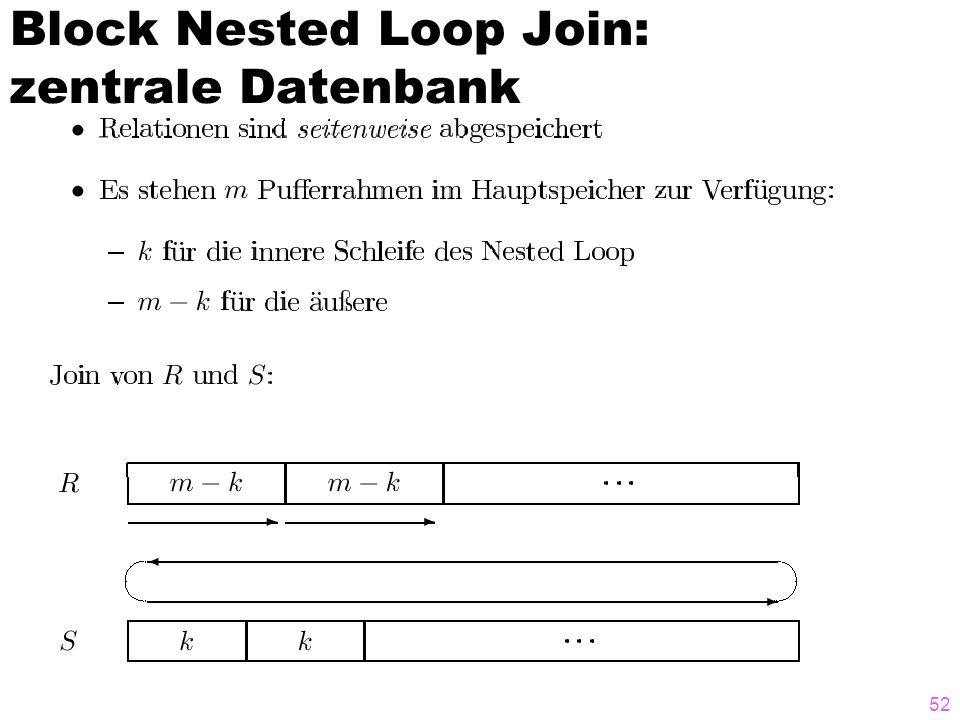 52 Block Nested Loop Join: zentrale Datenbank