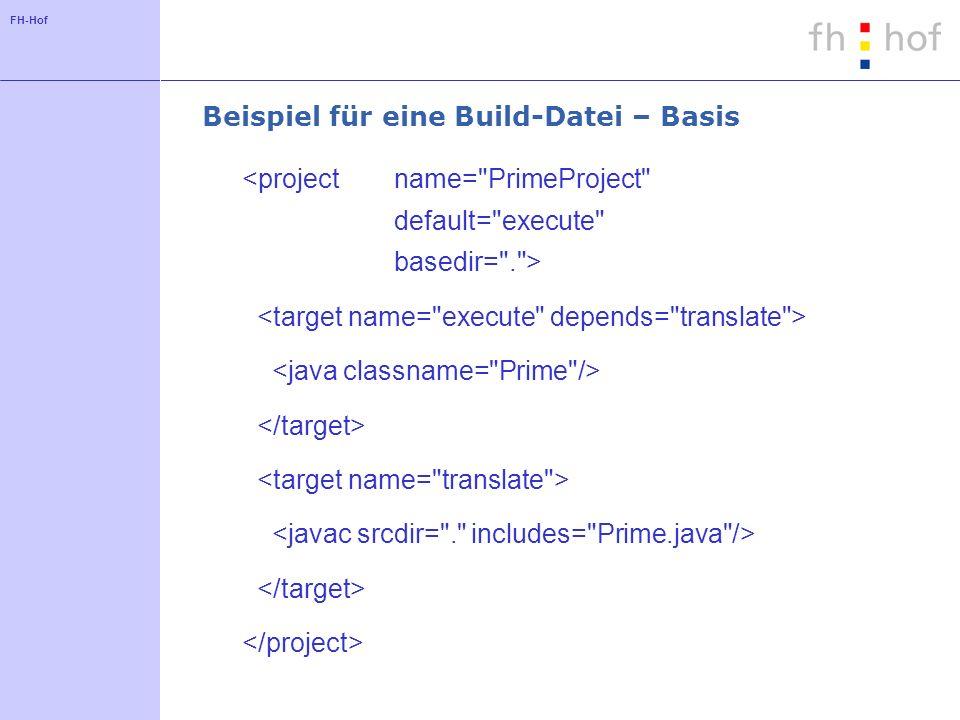 FH-Hof Beispiel für eine Build-Datei – Basis
