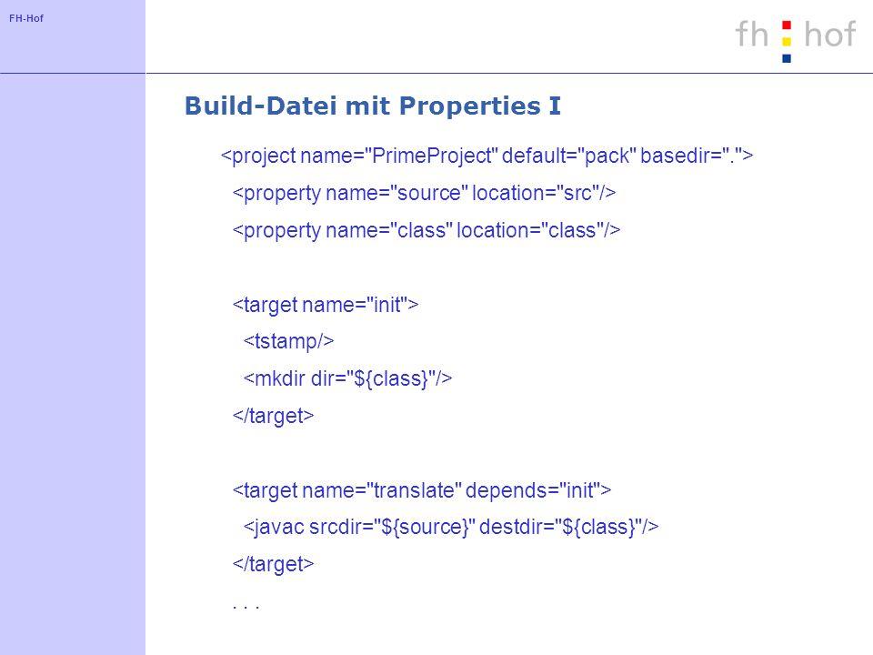 FH-Hof Build-Datei mit Properties I...