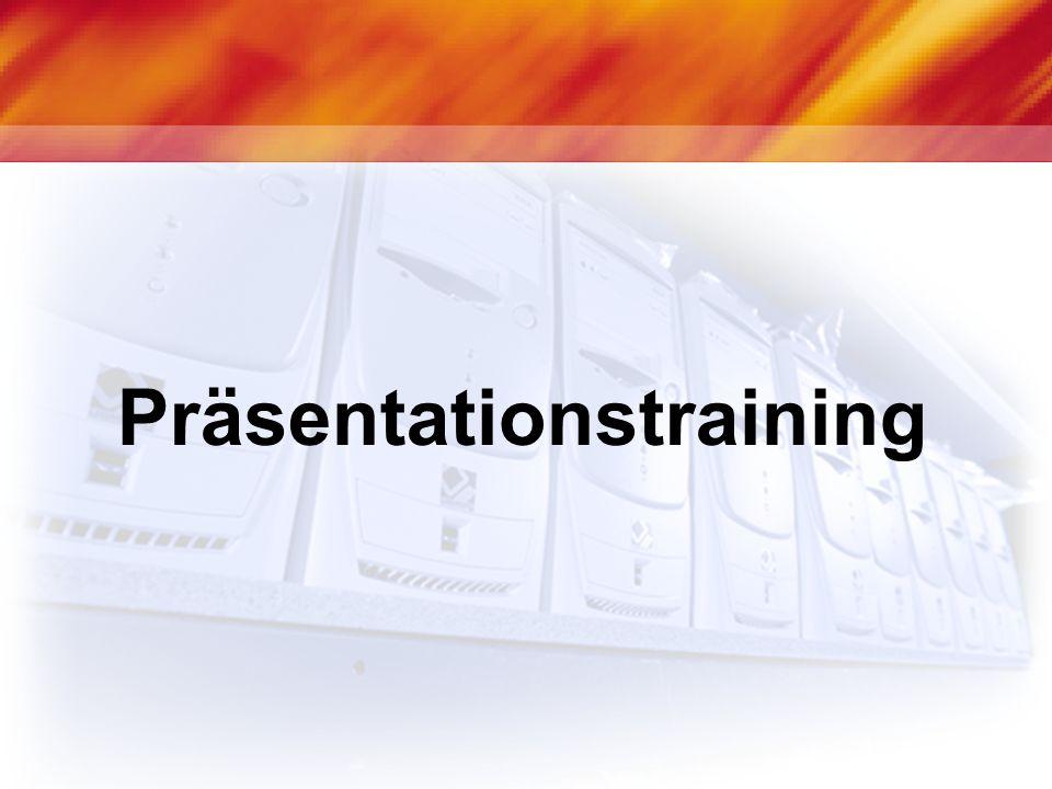 Agenda Motivation Vorbereitung Aufbau einer Präsentation Foliengestaltung Sprache und Körpersprache Tipps und Tricks
