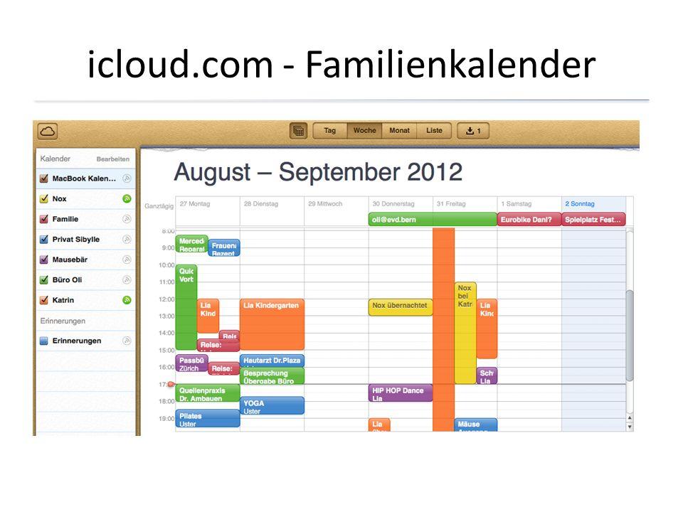 icloud.com - Familienkalender