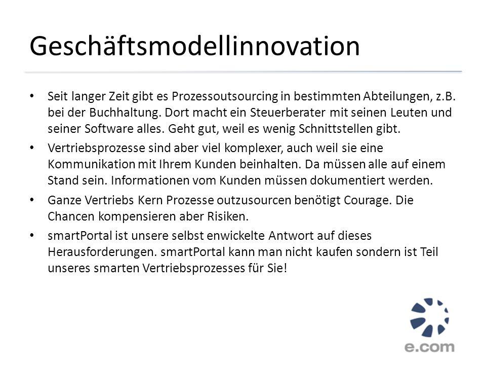 Geschäftsmodellinnovation Seit langer Zeit gibt es Prozessoutsourcing in bestimmten Abteilungen, z.B. bei der Buchhaltung. Dort macht ein Steuerberate