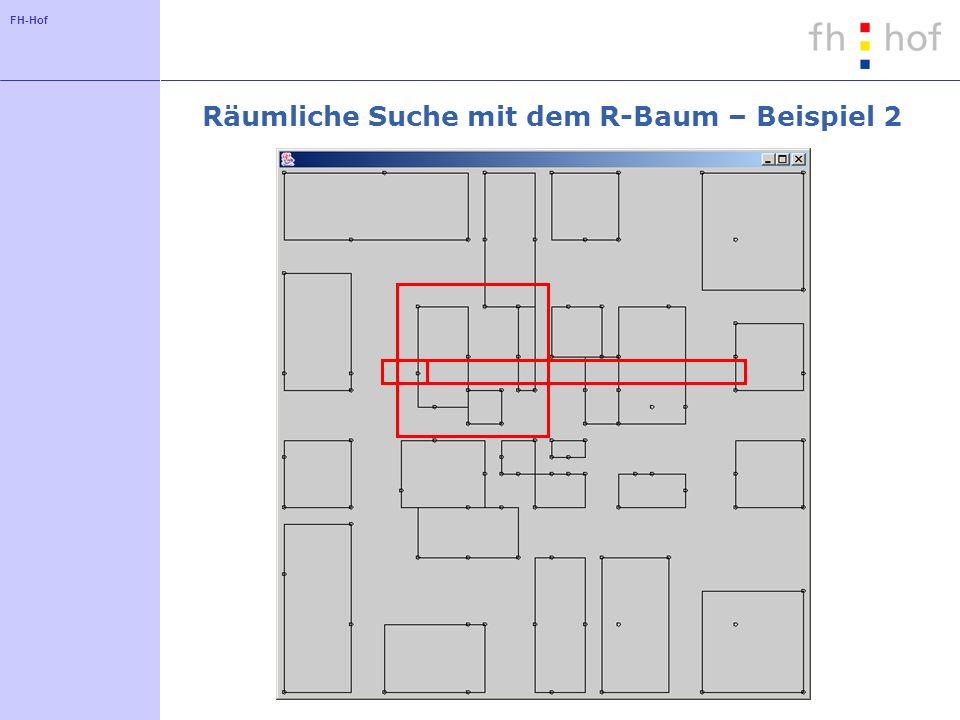 FH-Hof Räumliche Suche mit dem R-Baum – Beispiel 2