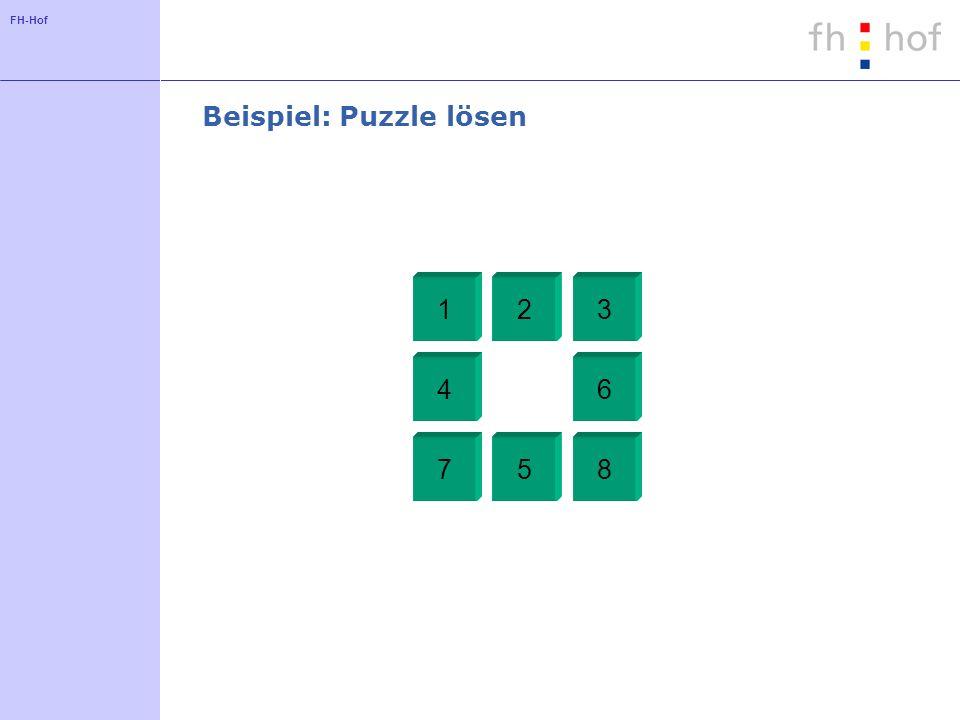 FH-Hof Beispiel: Puzzle lösen 123 4 5 6 78