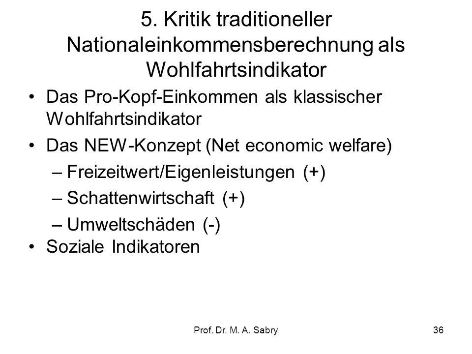 Prof. Dr. M. A. Sabry35 4. Ex post Identitätsgleichungen in einer offenen und geschlossenen Wirtschaft Es gilt in einer geschlossenen Volkswirtschaft: