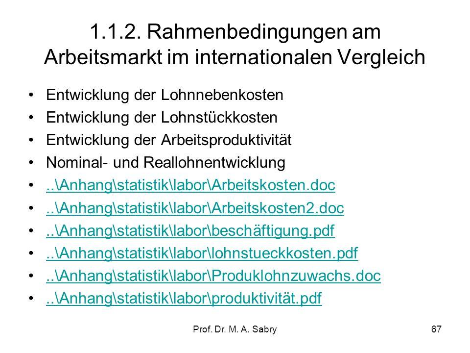 Prof. Dr. M. A. Sabry66 1.1.1. Produktionsfunktion Die Produktionsfunktion beschreibt die technischen Möglichkeiten, im Rahmen eines gegebenen Produkt