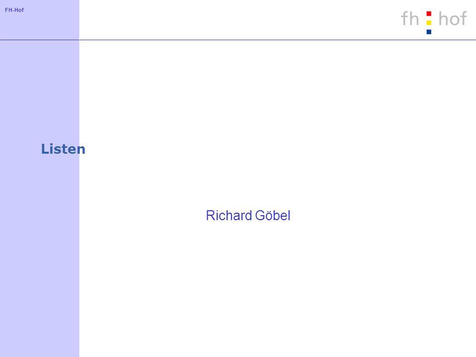 FH-Hof ArrayList - Objekt ersetzen public E add(int index, E element) { if (index =size) throw new IndexOutOfBoundsException( Index: +index+ , Size: +size); E oldValue = elementData[index]; elementData[index] = element; return oldValue; }