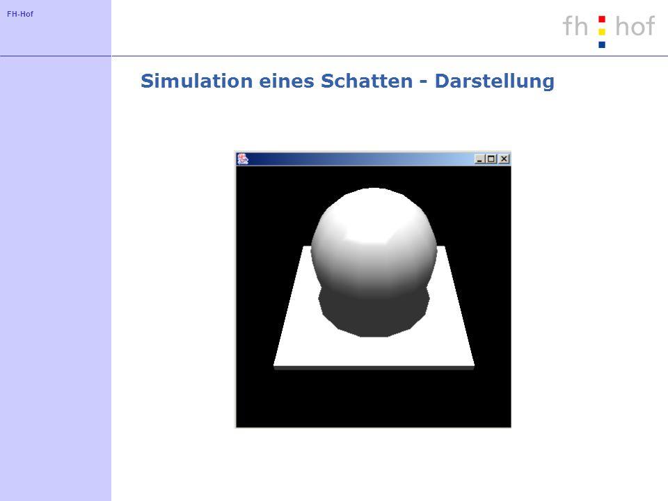FH-Hof Simulation eines Schatten - Darstellung