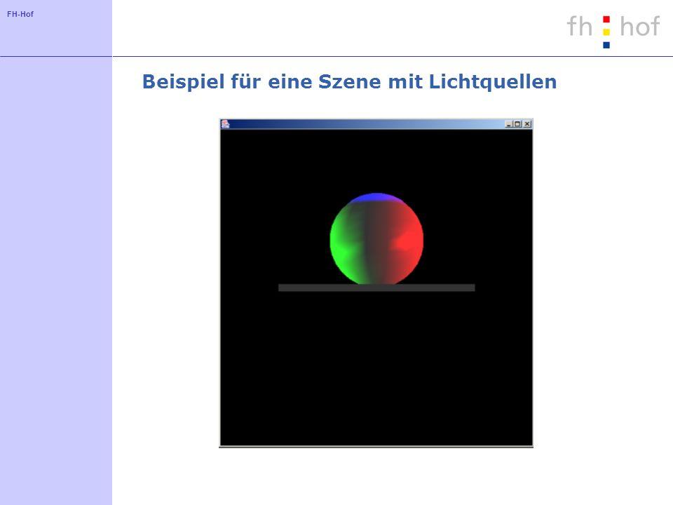 FH-Hof Beispiel für eine Szene mit Lichtquellen