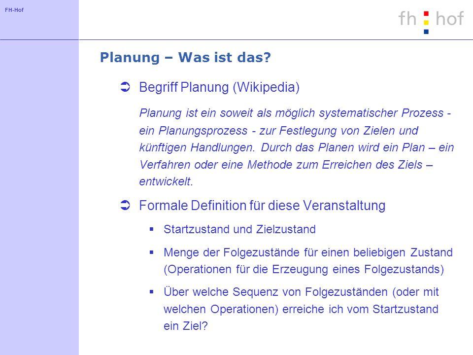 FH-Hof Planung – Was ist das.