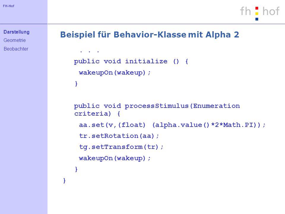 FH-Hof Beispiel für Behavior-Klasse mit Alpha 2...