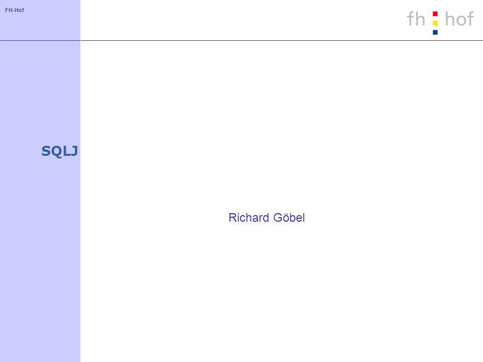 FH-Hof SQLJ Richard Göbel