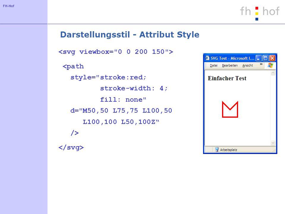 FH-Hof Darstellungsstil - Attribut Style