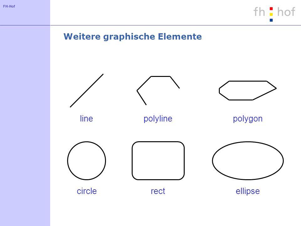 FH-Hof Weitere graphische Elemente line polyline polygon circlerectellipse