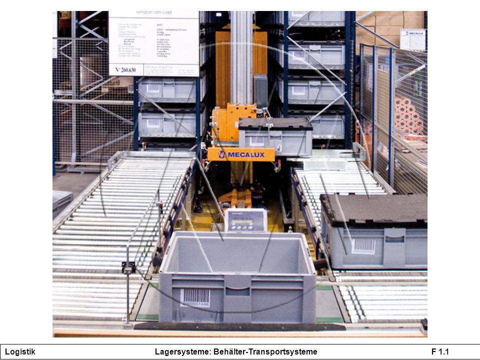 Logistik Lagersysteme: Behälter-Transportsysteme F 1.1